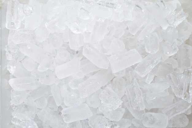 Вид сверху картина поверхности колотого льда.
