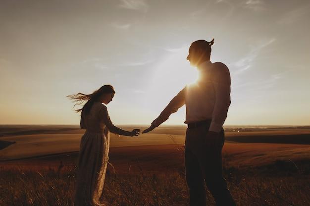 Портрет пары, нежность любви к природе