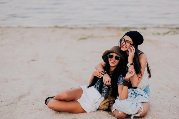 Друзья на пляже
