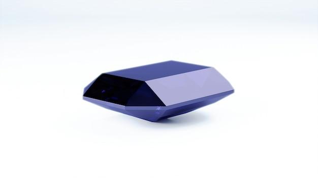Крупным планом синий драгоценный камень