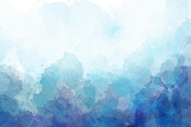 青い水彩背景。デジタルドローイング