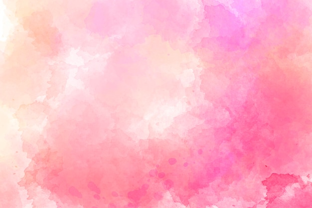 ピンクの水彩画の背景。デジタルドローイング