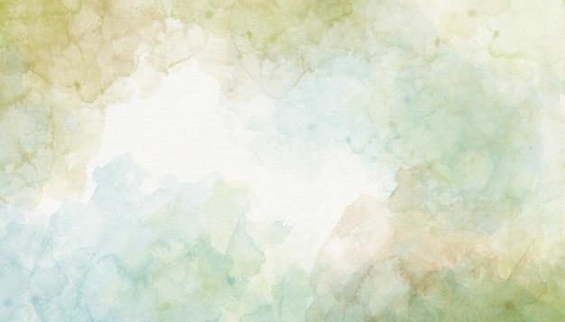 緑の水彩画の背景の抽象化