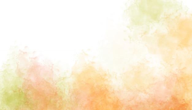 オレンジ色の光の水彩画の背景。