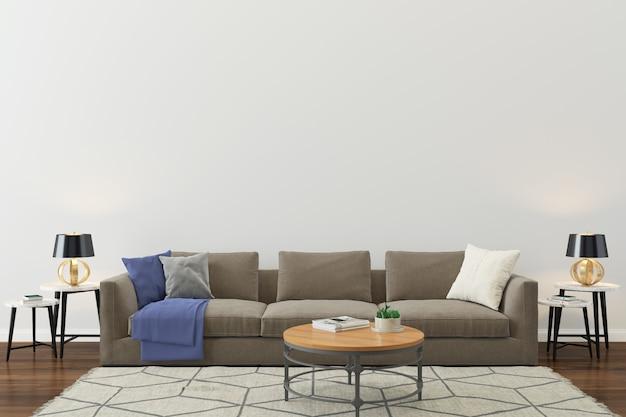 壁テクスチャ背景木の床光茶色のソファ