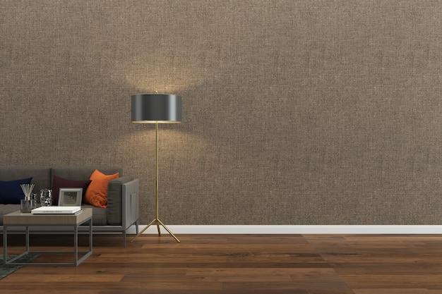 インテリアリビングルームモダンな木製の床壁大理石の背景テクスチャ