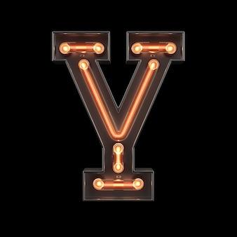 Неоновый свет алфавит