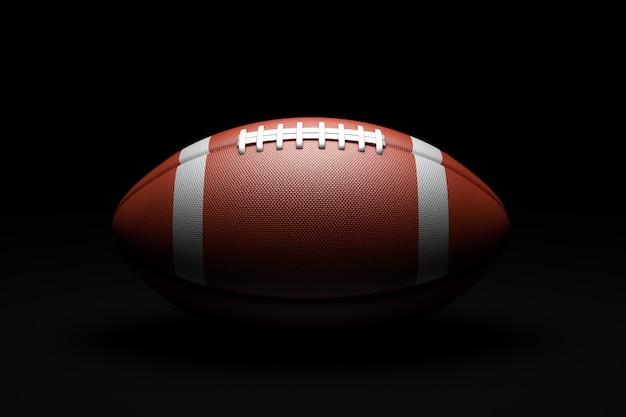 Американский футбол на черном фоне.