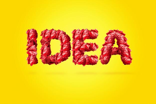 紙でアイデアの概念を拒否しました。