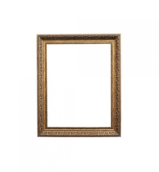 Винтажная рамка фото изолированная на белой предпосылке.