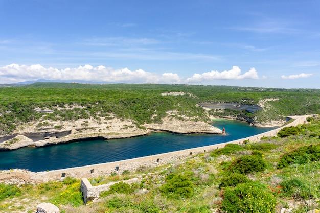 Пейзаж на острове корсика во франции