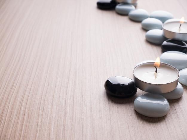 Спа тема рок и свеча