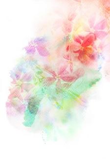 花の水彩イラスト。