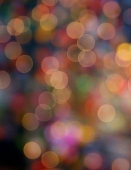 色とりどりの多重ボケライトの背景