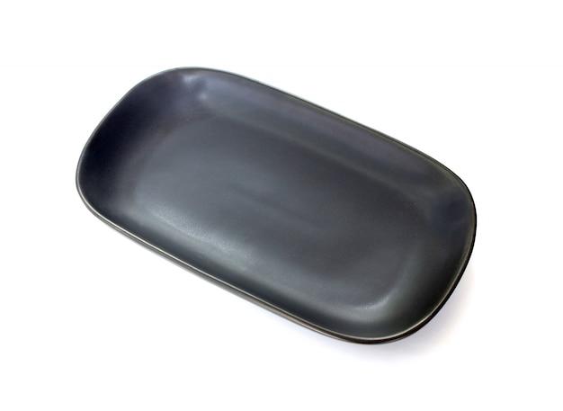 空の黒い皿絶縁