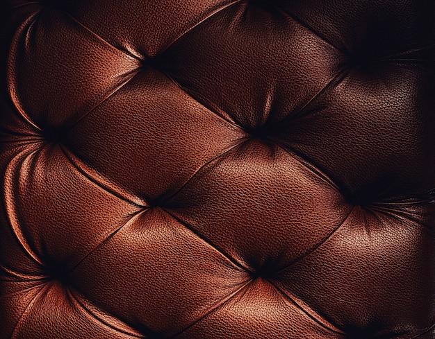 茶色のトーンで豪華な装飾のための本革の室内装飾の背景