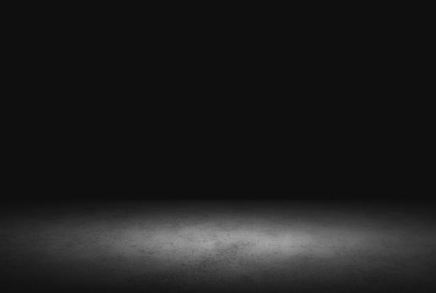 Темный пол фон черный пустое пространство для отображения вашей продукции, черный бетон поверхность земли текстура.