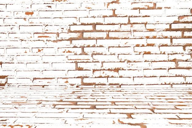 レンガの壁の背景テクスチャグランジ