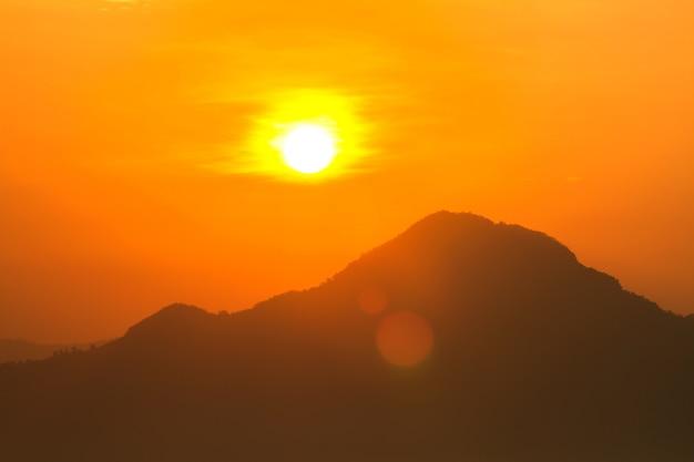太陽からの地球温暖化と燃焼、熱波の暑い太陽、気候変動