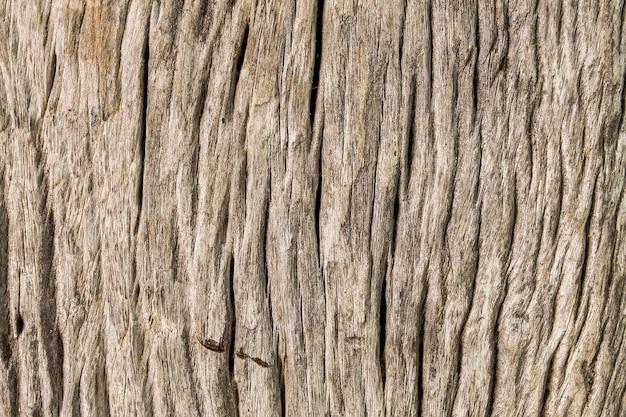 クローズアップテクスチャ背景で汚れたひびの入った木の板