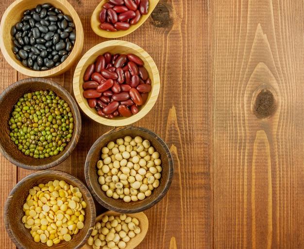 平干し、上から見た小豆などの小豆