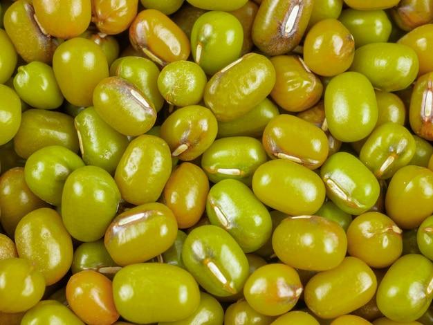 緑豆のクローズアップ、マクログループ