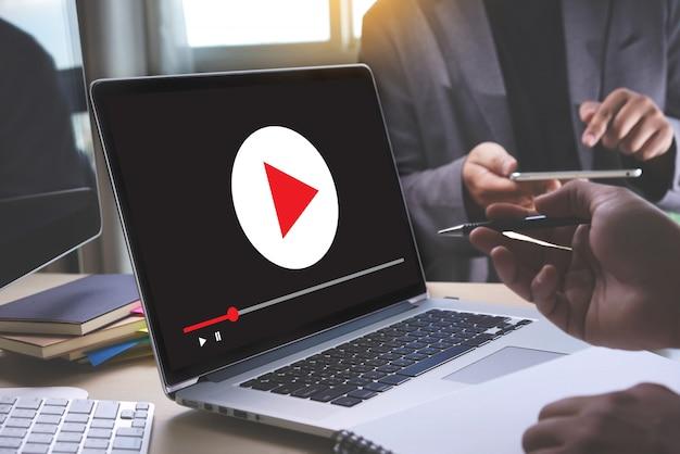ビデオマーケティングオーディオビデオ、市場インタラクティブチャンネル、ビジネスメディア