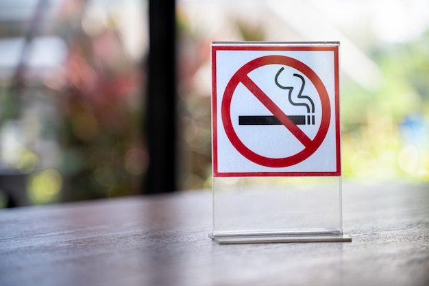 サインをしないでくださいコーヒーカフェで禁煙サインイン