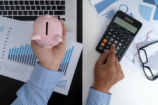 数字を計算し、ソーシャルネットワーク図で財務会計グラフ財務