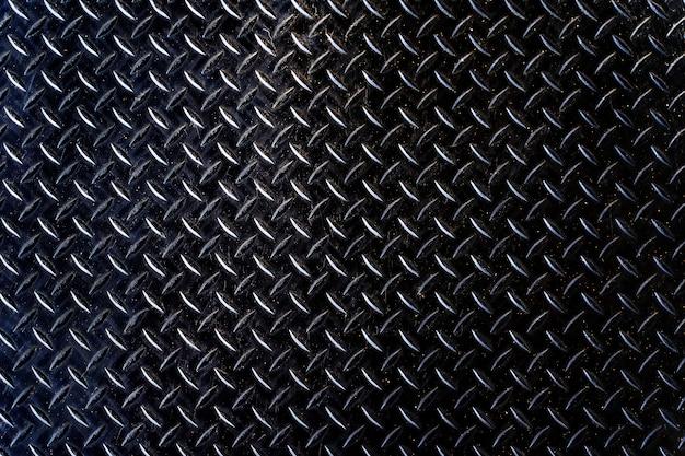 鉄板黒テクスチャ背景古い風化した金属ダイヤモンド板