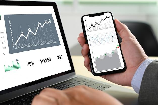 一生懸命働くデータ分析統計情報ビジネステクノロジー