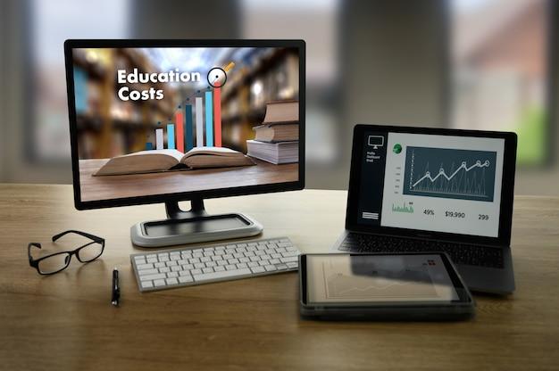 教育費の上昇傾向を示す教育チャート財務分析