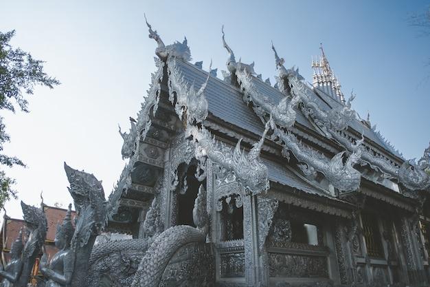 タイの寺院。有名な大理石寺院チェンマイタイタイ芸術