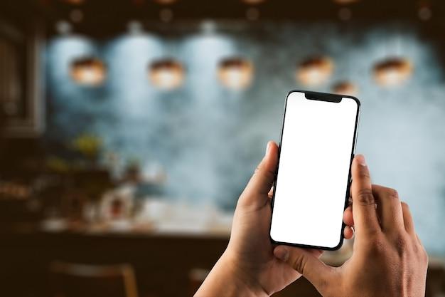 スマートフォンの技術と電話技術の動向を使用して人間の手を閉じる