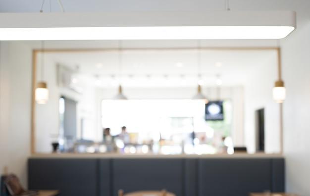 さまざまなコーヒーの暗い色のオープンスペースのインテリアビューでロフトスタイルのレイアウト