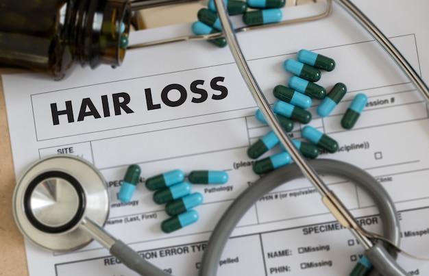 脱毛症の空気損失ヘアケア薬脱毛症
