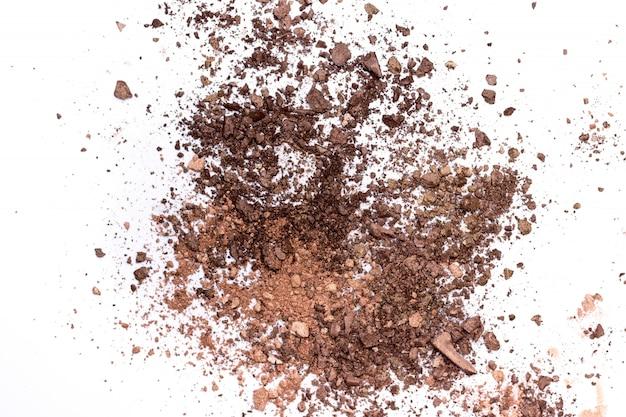 壊れたブラウンアイシャドウパレット絶縁