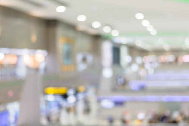 空港の背景をぼかし。