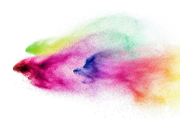 Взрыв красочного порошка холи.