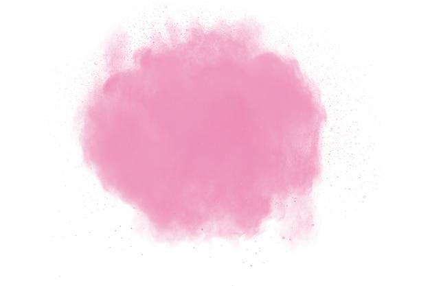 Розовый порошок взрыв на белом