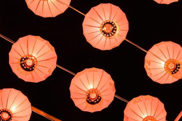 中国の新年のための赤い灯籠。