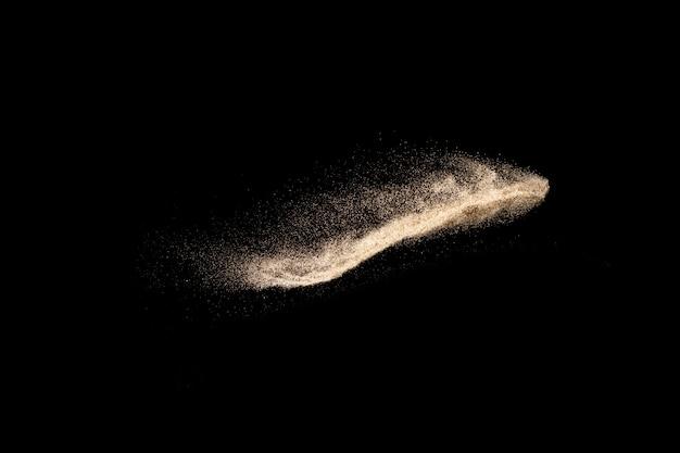 茶色の砂のスプラッシュ。