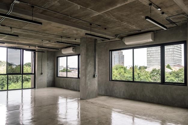 インテリア工業用セメントロフトデザインコンセプトモダンホームオフィス