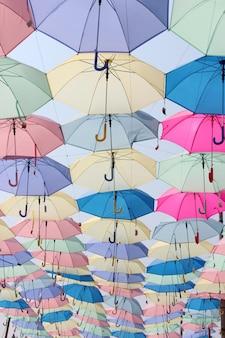 美しい色の傘の背景