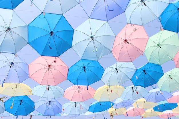 Красивый цветной зонтик фон