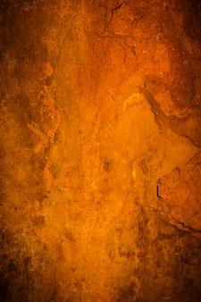 古いセメント壁のビネットの背景と黒