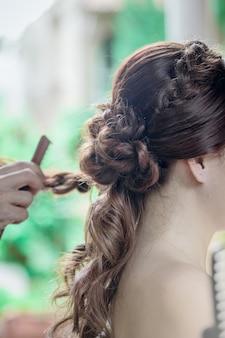 美容院の花嫁