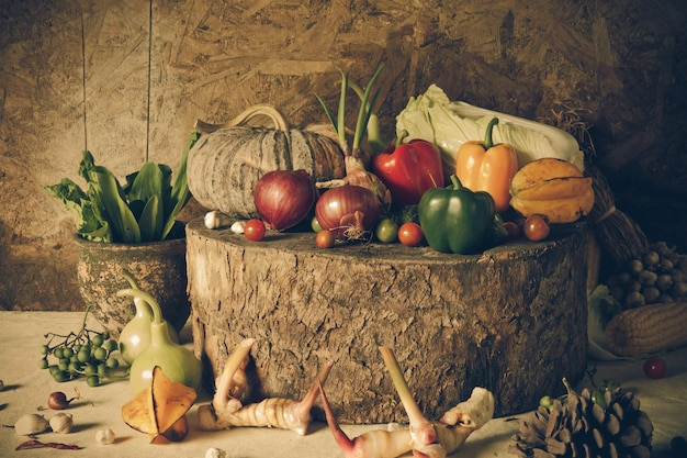 静物野菜や果物。