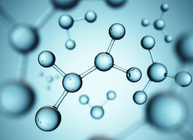 Абстрактный дизайн молекул.