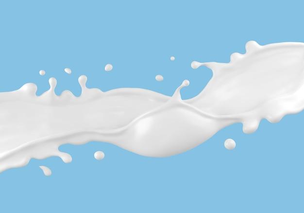 分離された牛乳のスプラッシュ